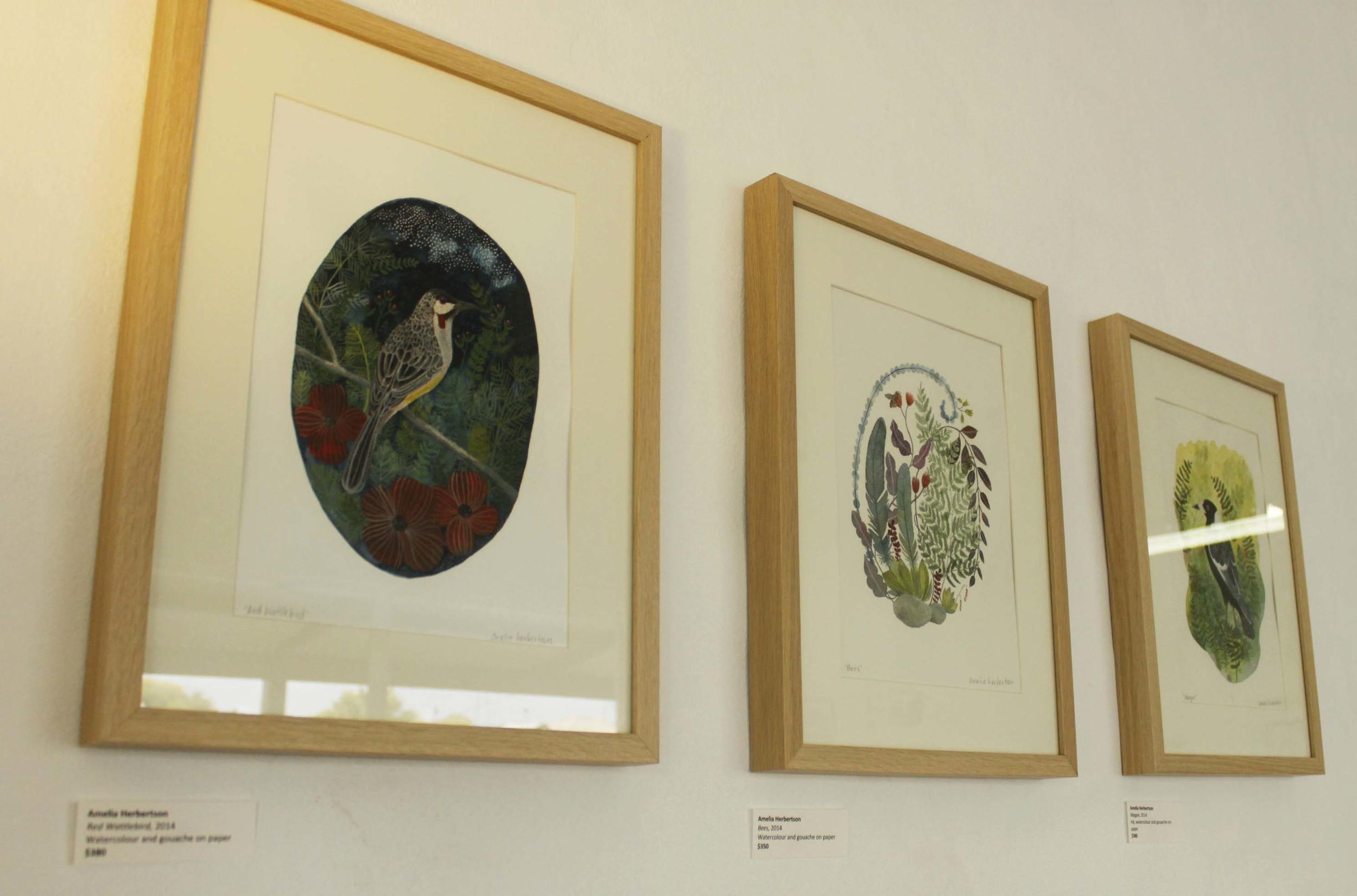 Gouache and watercolour series by Amelia Herbertson