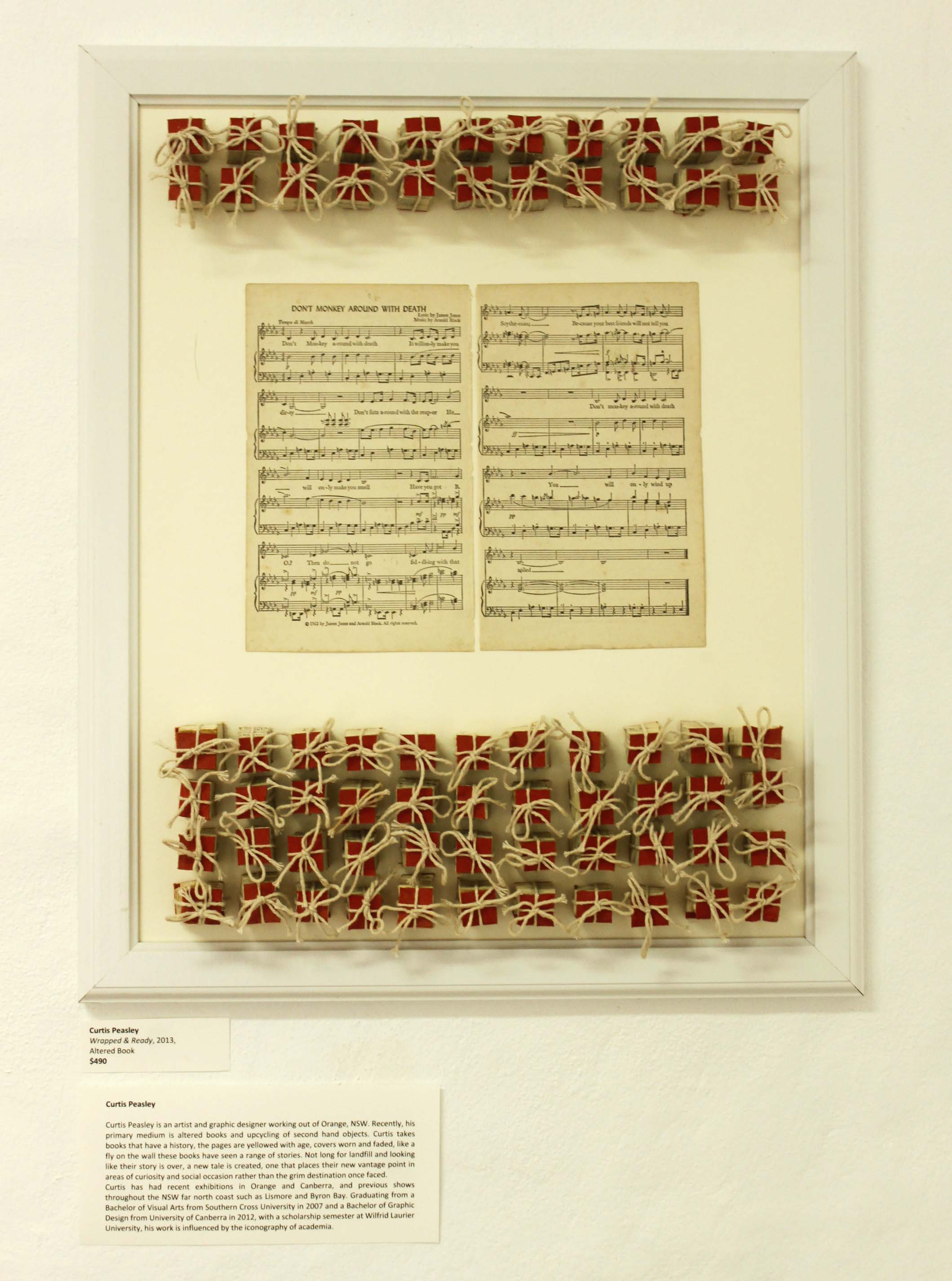 """""""Wrapped and Ready"""", Curtis Peasley- altered book"""