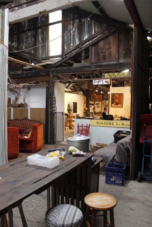 From the common area into Nicole's studio