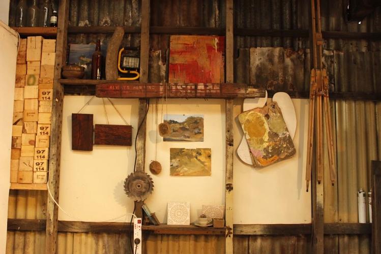 Australian Artist Studio Visit, Aboriginal Art, Newcastle Art, Indigenous Art - Nicole Chaffey, The Corner Store Gallery, photograph by Madeline Young