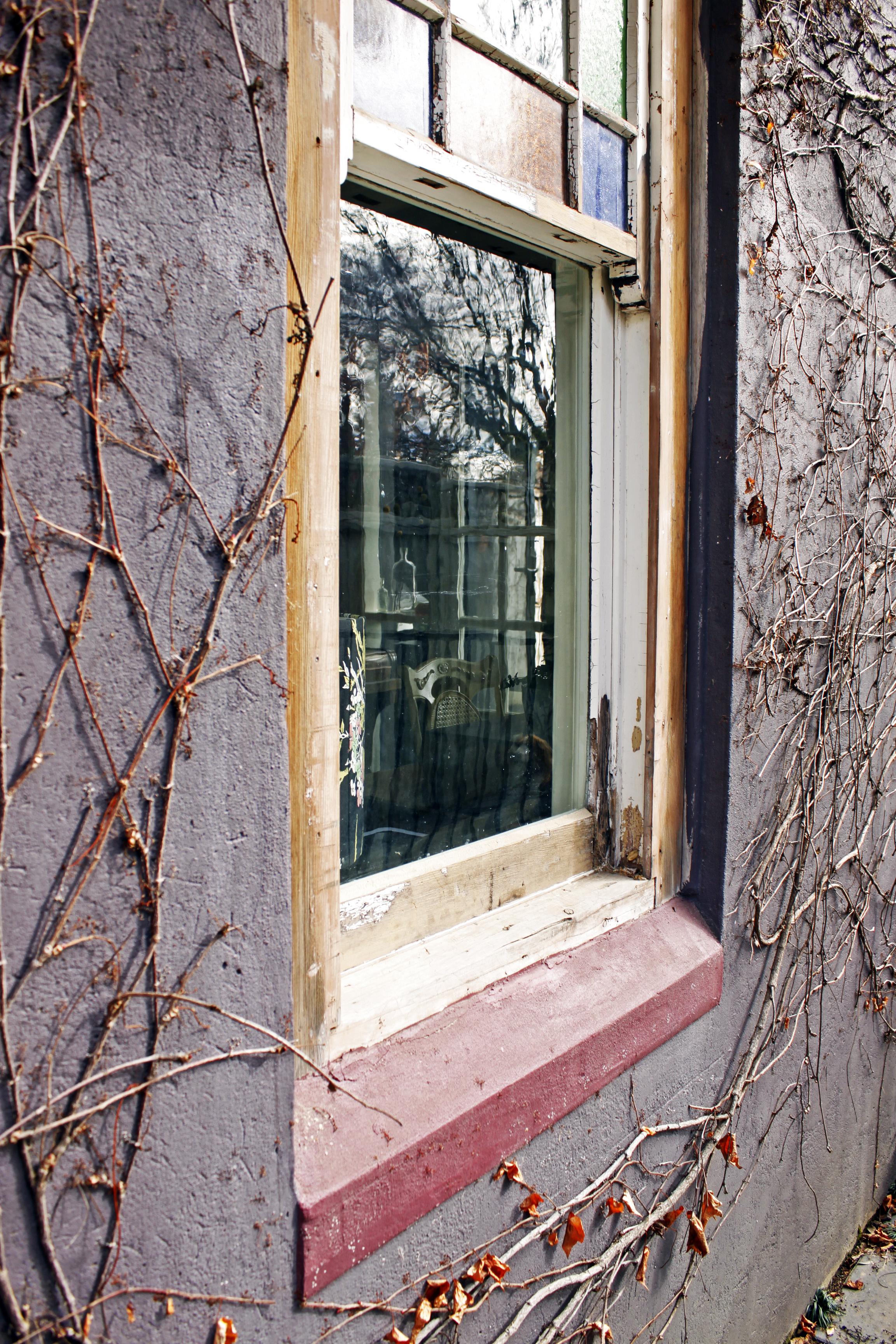 Through the window into Amelia's studio