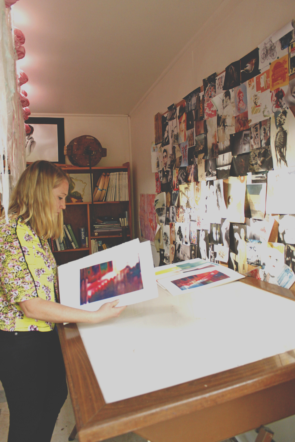 Australian artist studio visit - Madeline Young, The Corner Store Gallery, Orange NSW, photograph by Kieth Yap