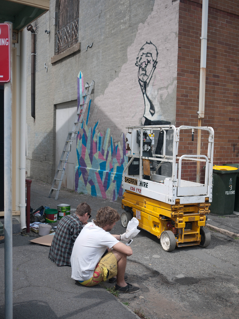 Newcastle's View Factory mural, 2009