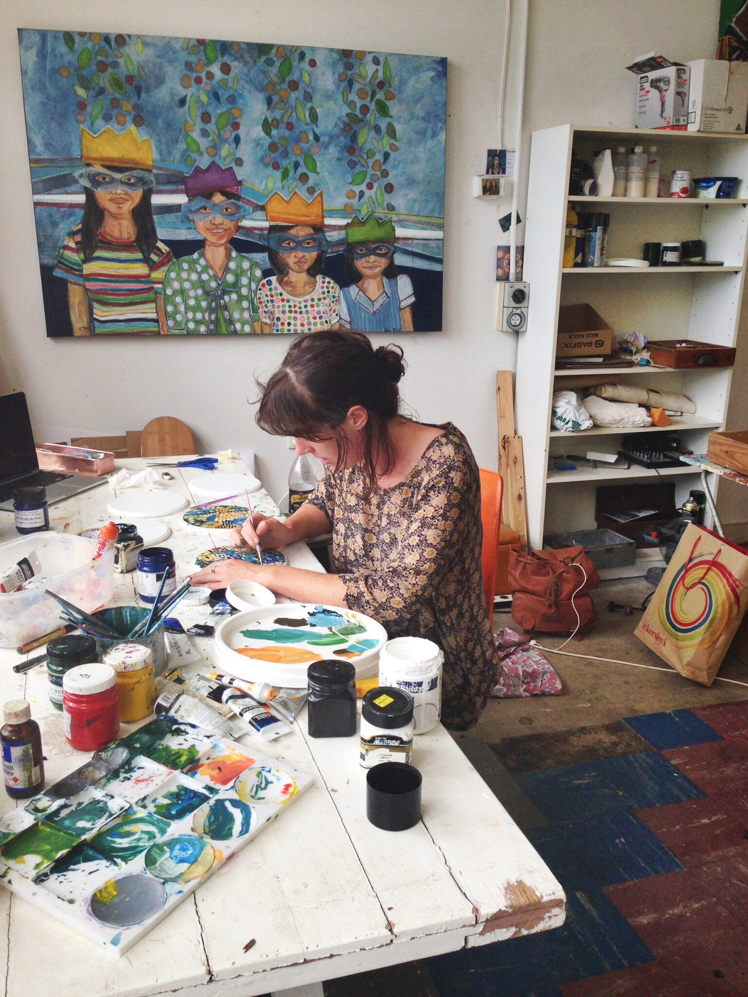 Ellie Hannon creating new paintings for the markets