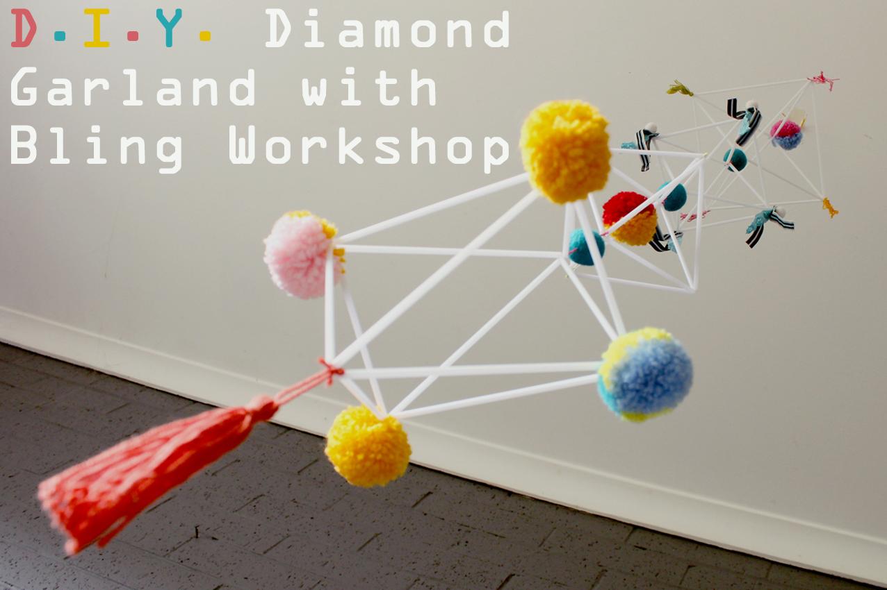 DIY Diamond Garland, The Corner Store Gallery, Orange NSW