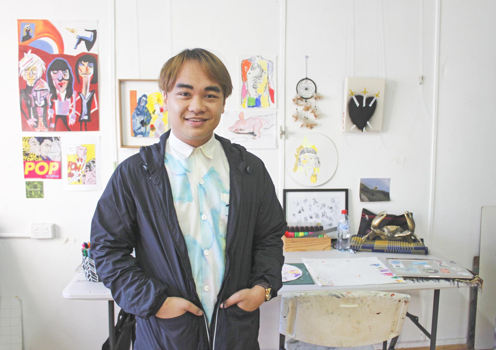 Kieth Yap in his studio, Dubbo NSW