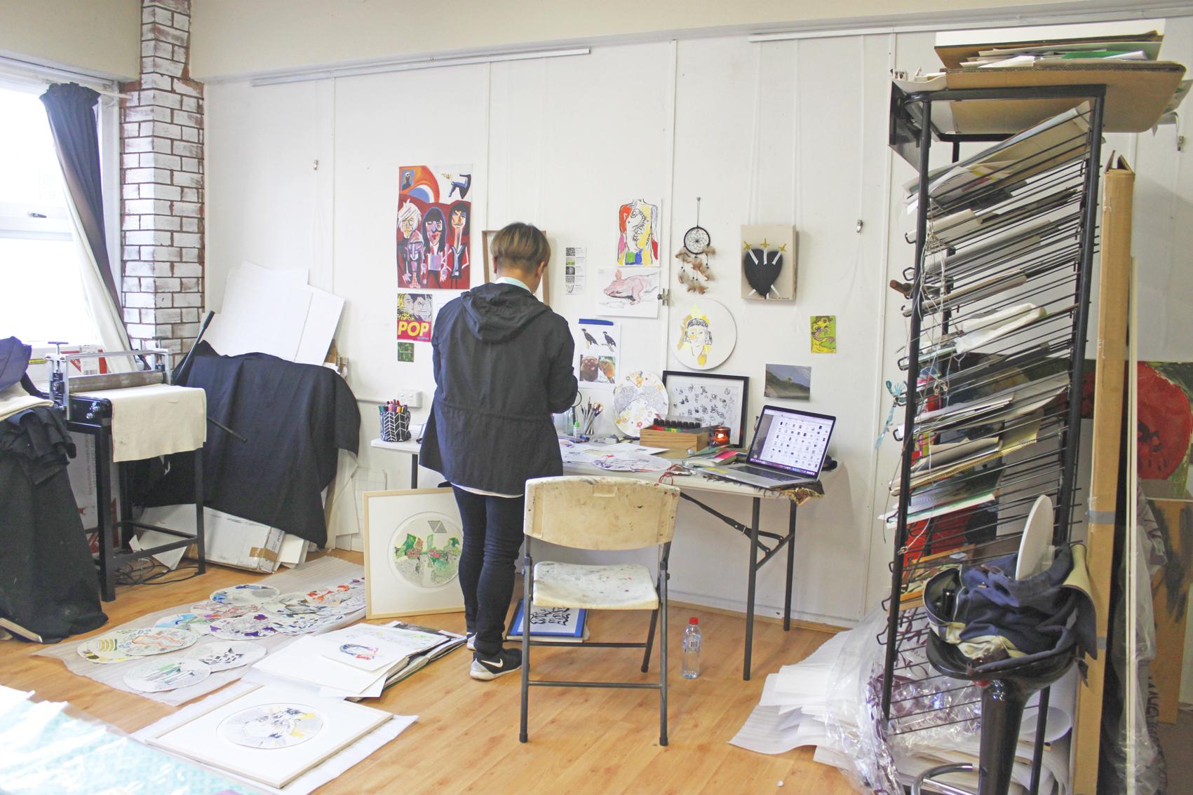 Kieth Yap's studio space in The Basement Studio in Dubbo, NSW.