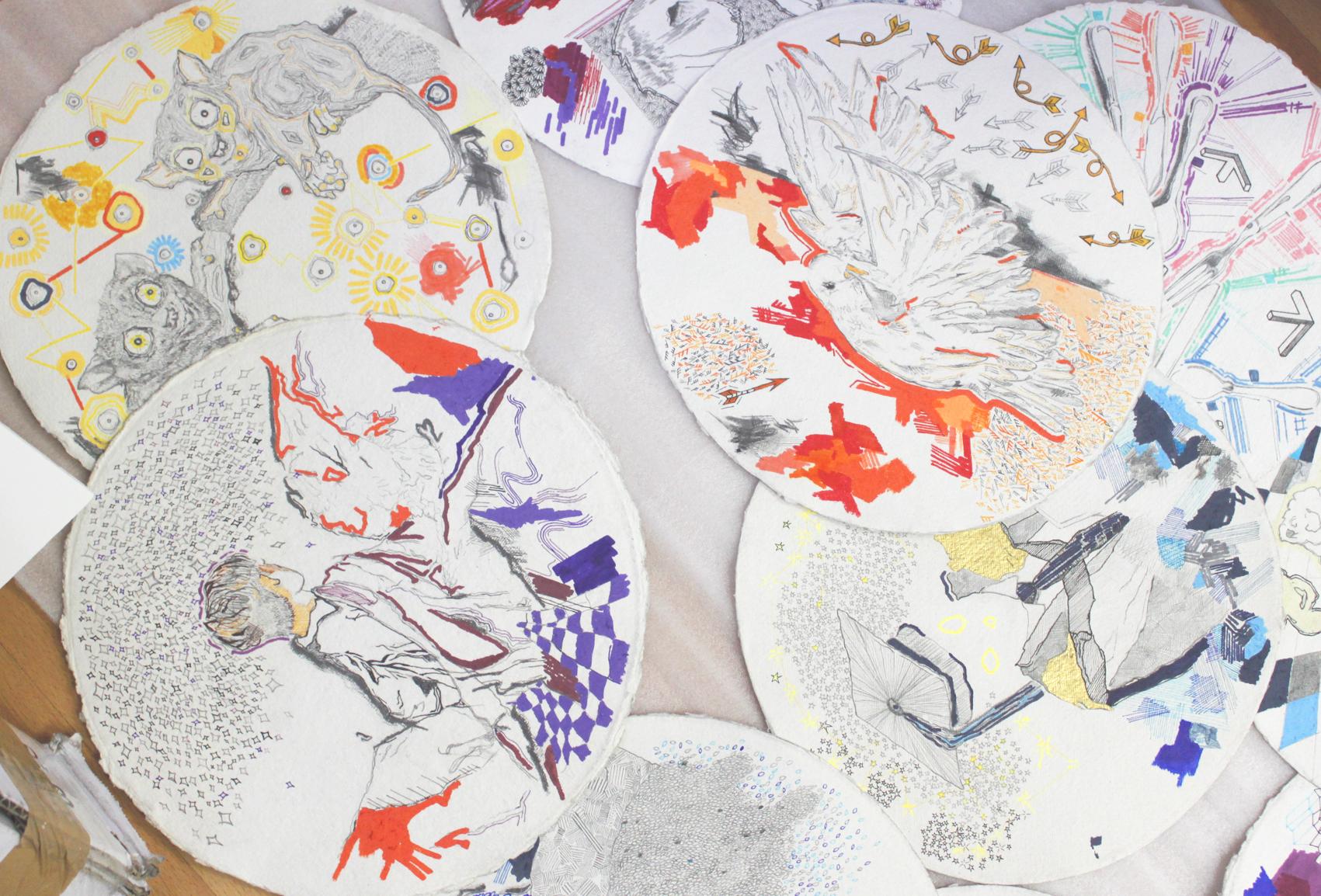 Australian artist studio visit - Kieth Yap, The Corner Store Gallery, Orange NSW, photograph by Madeline Young