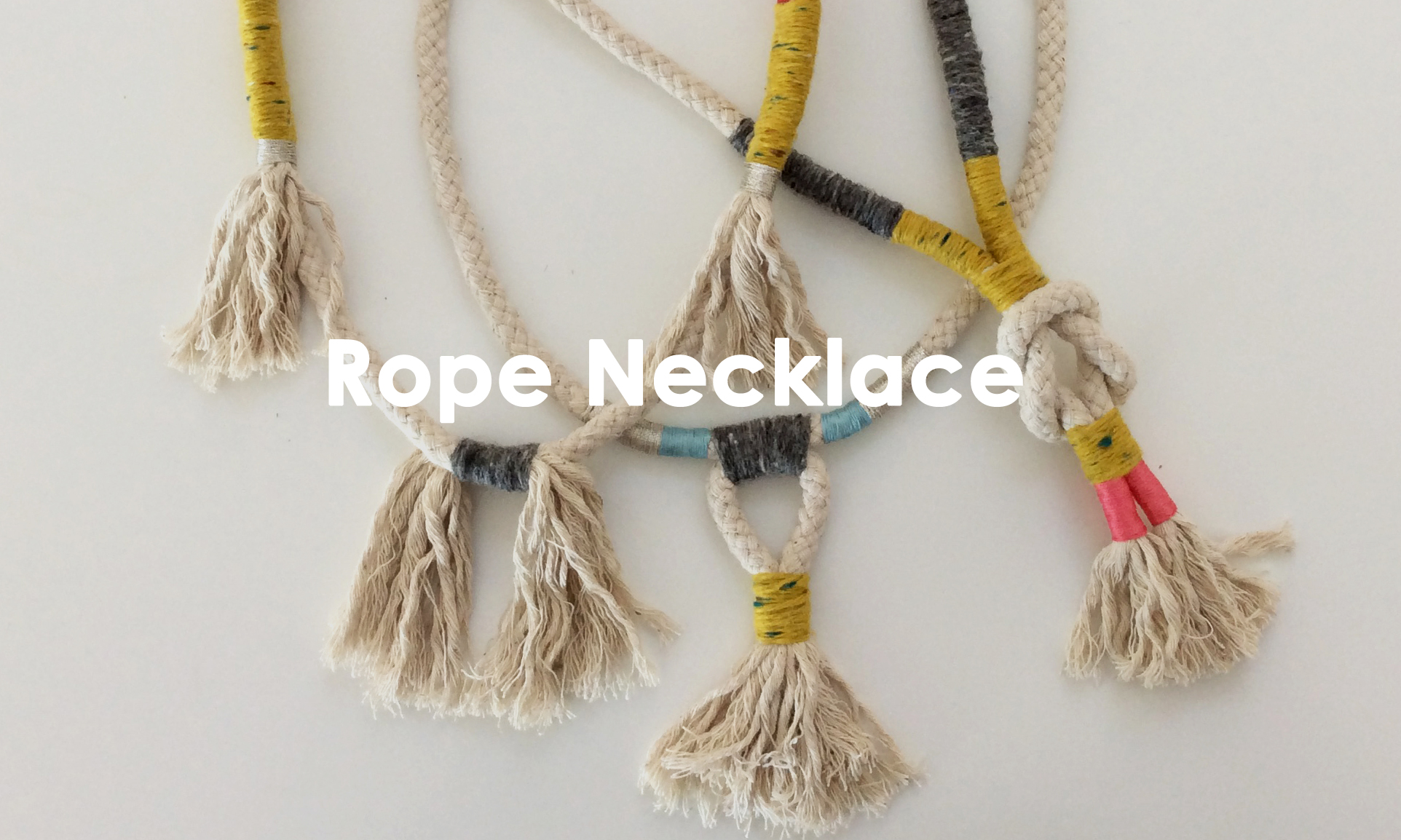 DIY Rope Necklace Workshop, The Corner Store Gallery