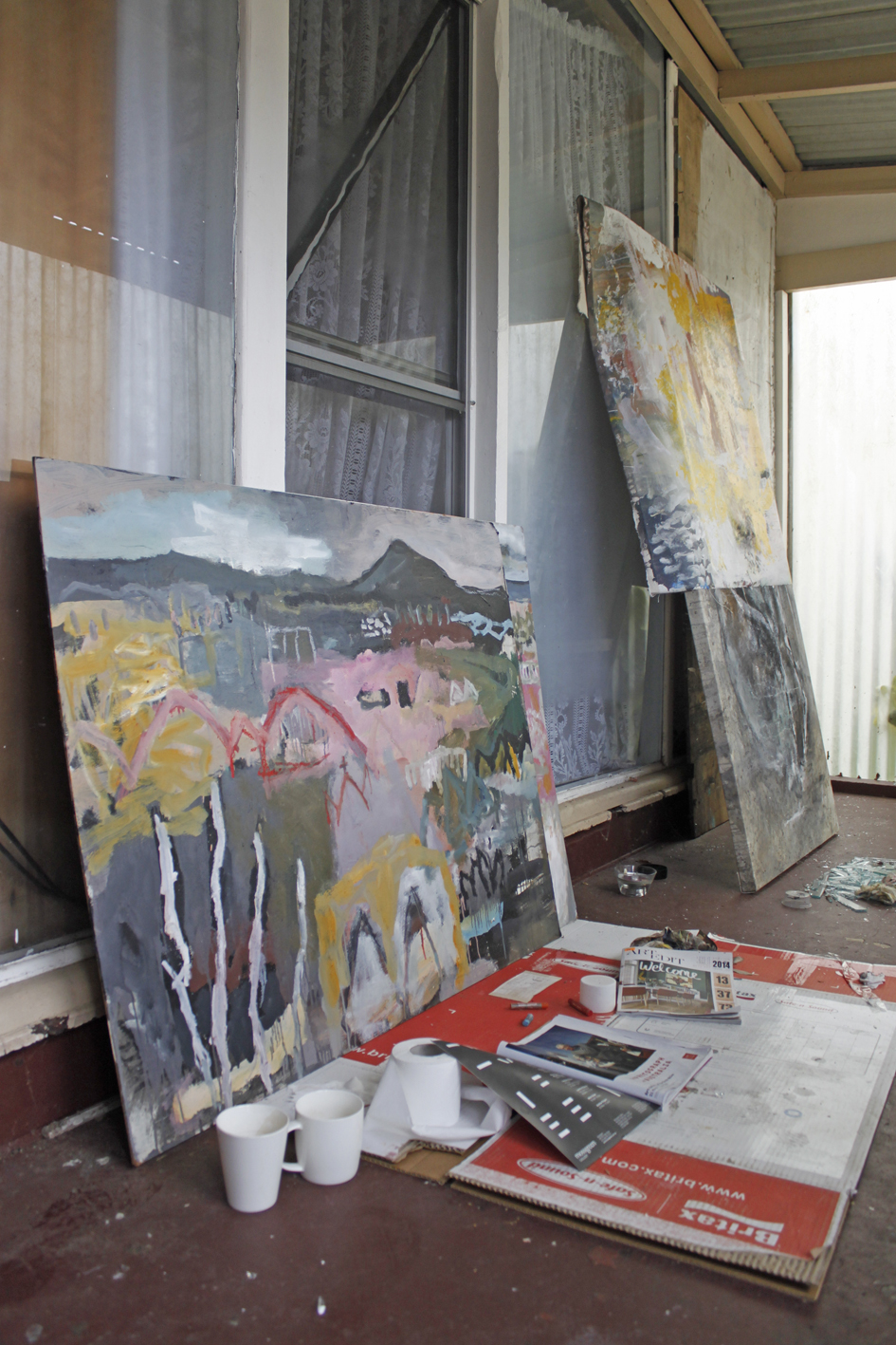 Australian Artist Studio Visit - James Kearns, The Corner Store Gallery, Orange NSW, photograph by Madeline Young