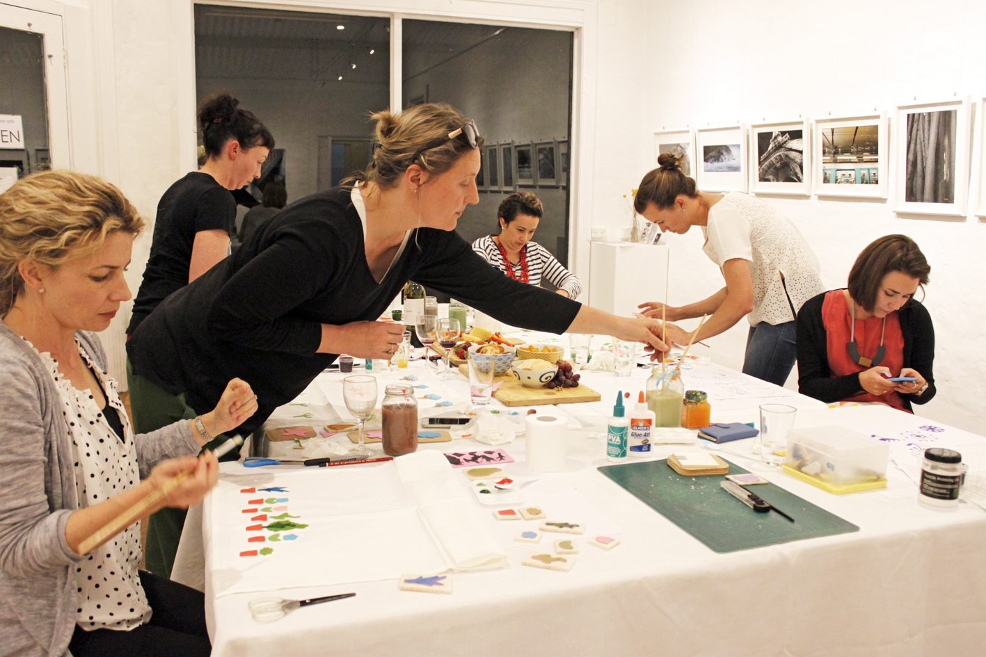 Block Printing Workshop, The Corner Store Gallery, Orange NSW, creative workshops, photograph by Madeline Young