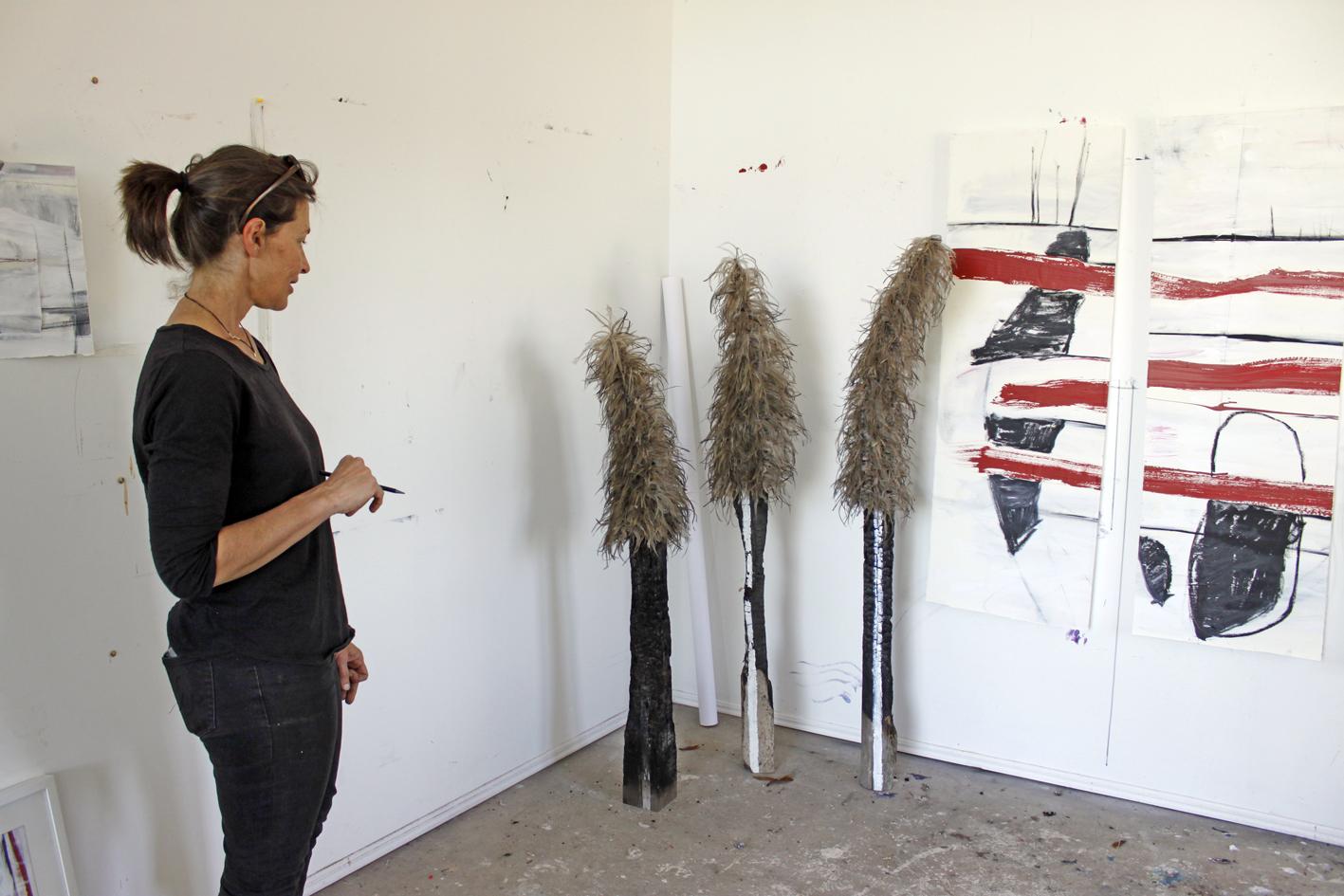 Australian Artist studio visit, Tonya Graham, contemporary sculpture, The Corner Store Gallery, Orange NSW, photograph by Madeline Young