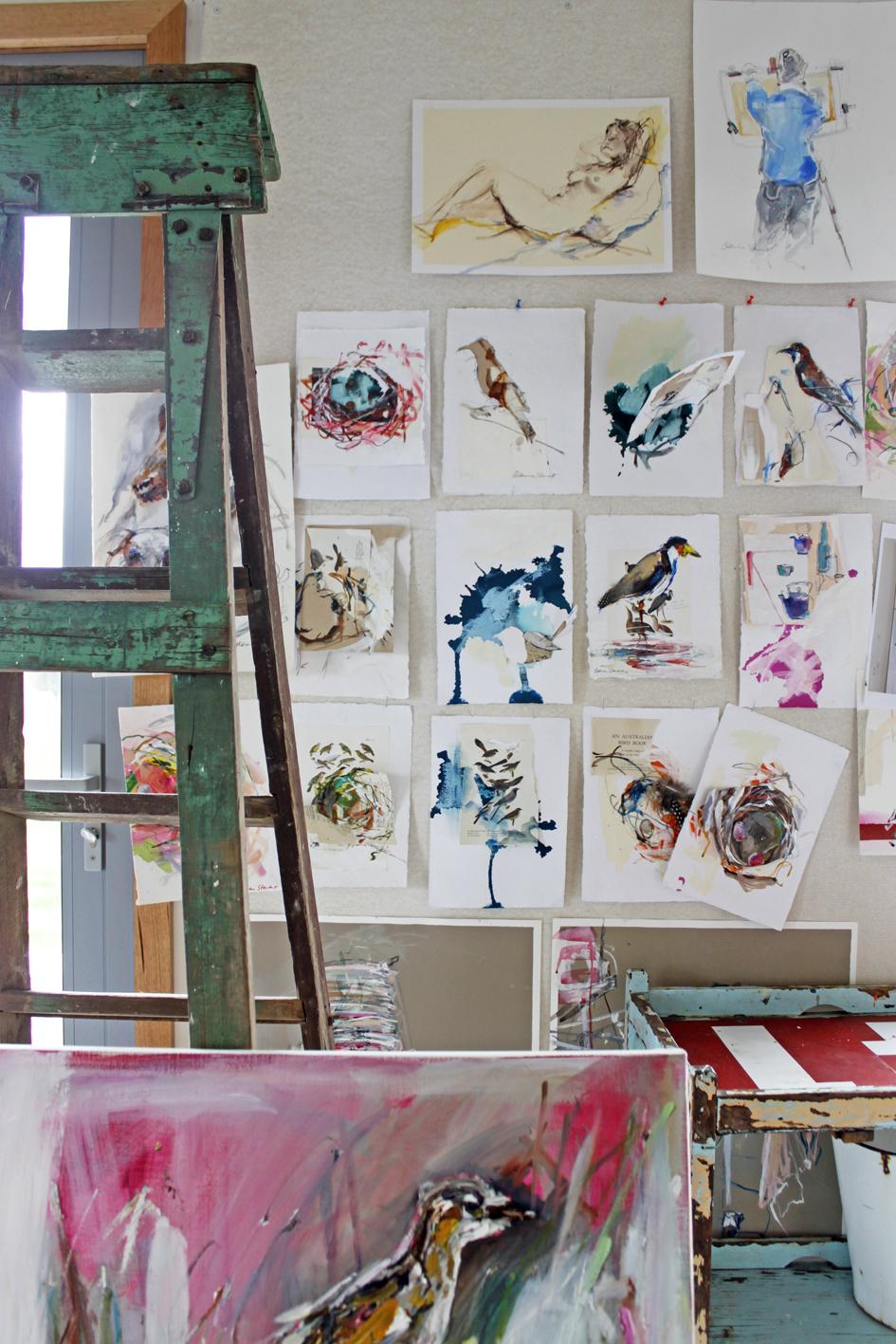 Australian artist studio visit, Catherine Stewart, The Corner Store Gallery, Orange NSW, photographs by Madeline Young