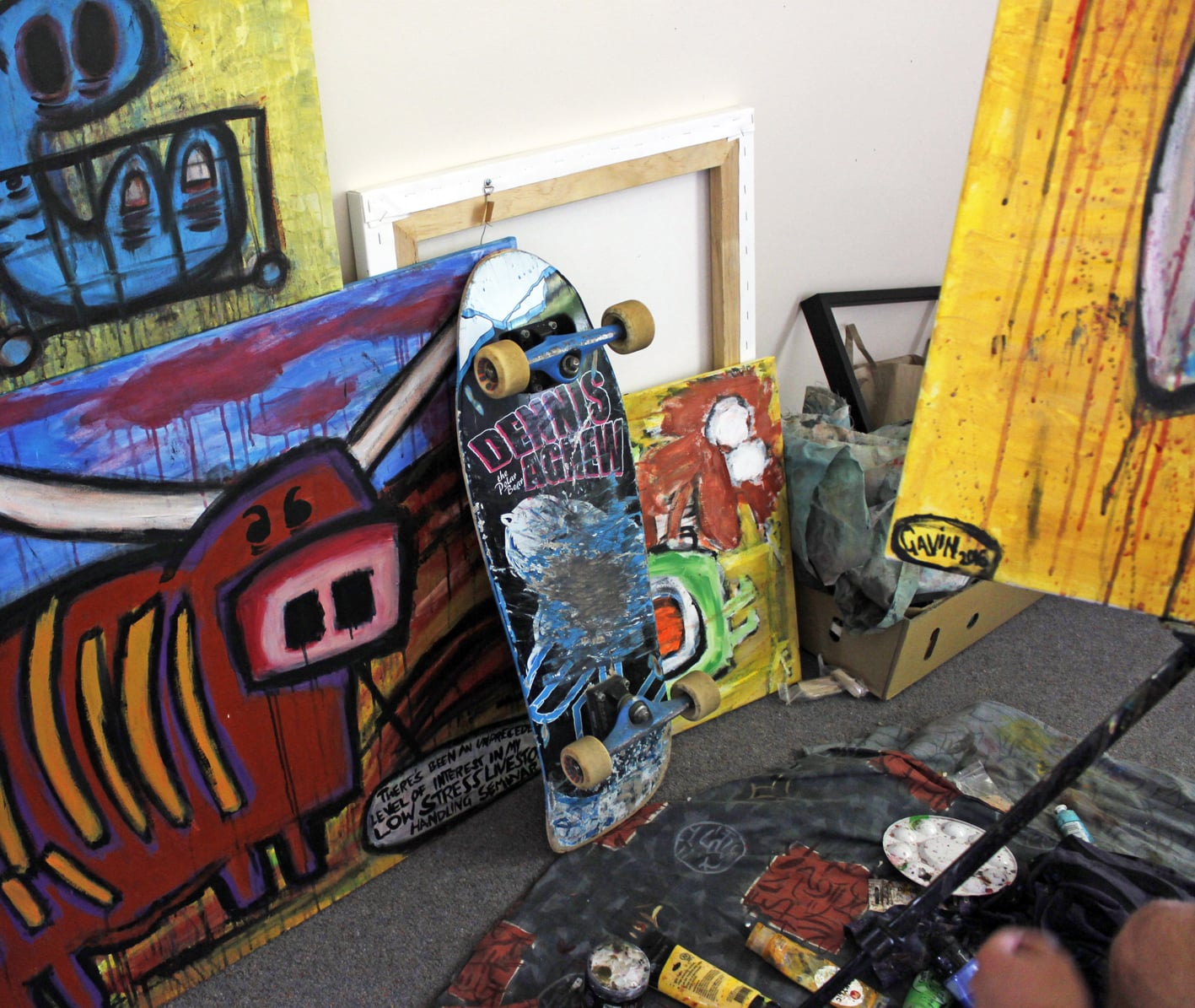 Australian artist Gavin Coote, studio visit - The Corner Store Gallery, photograph by Madeline Young