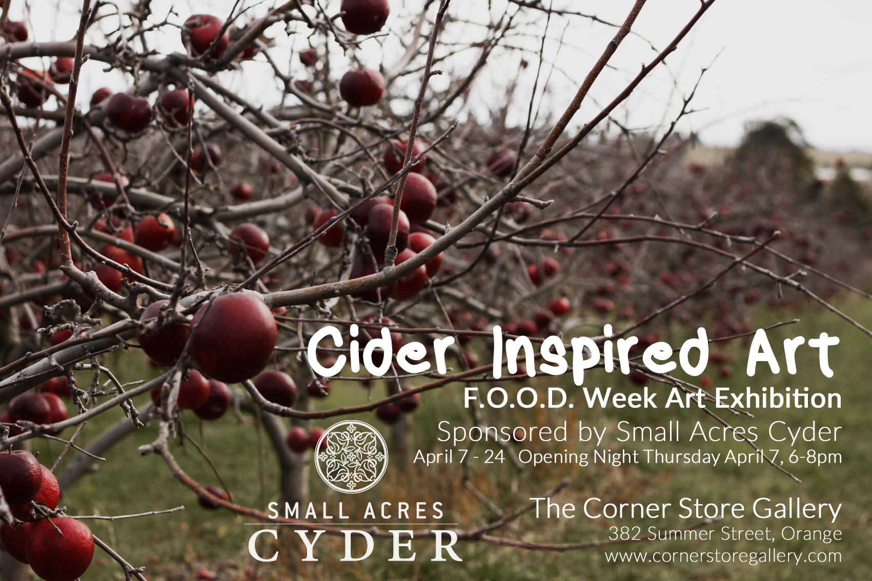 The Corner Store Gallery, Small Acres Cyder - FOOD Week Exhibition 2016