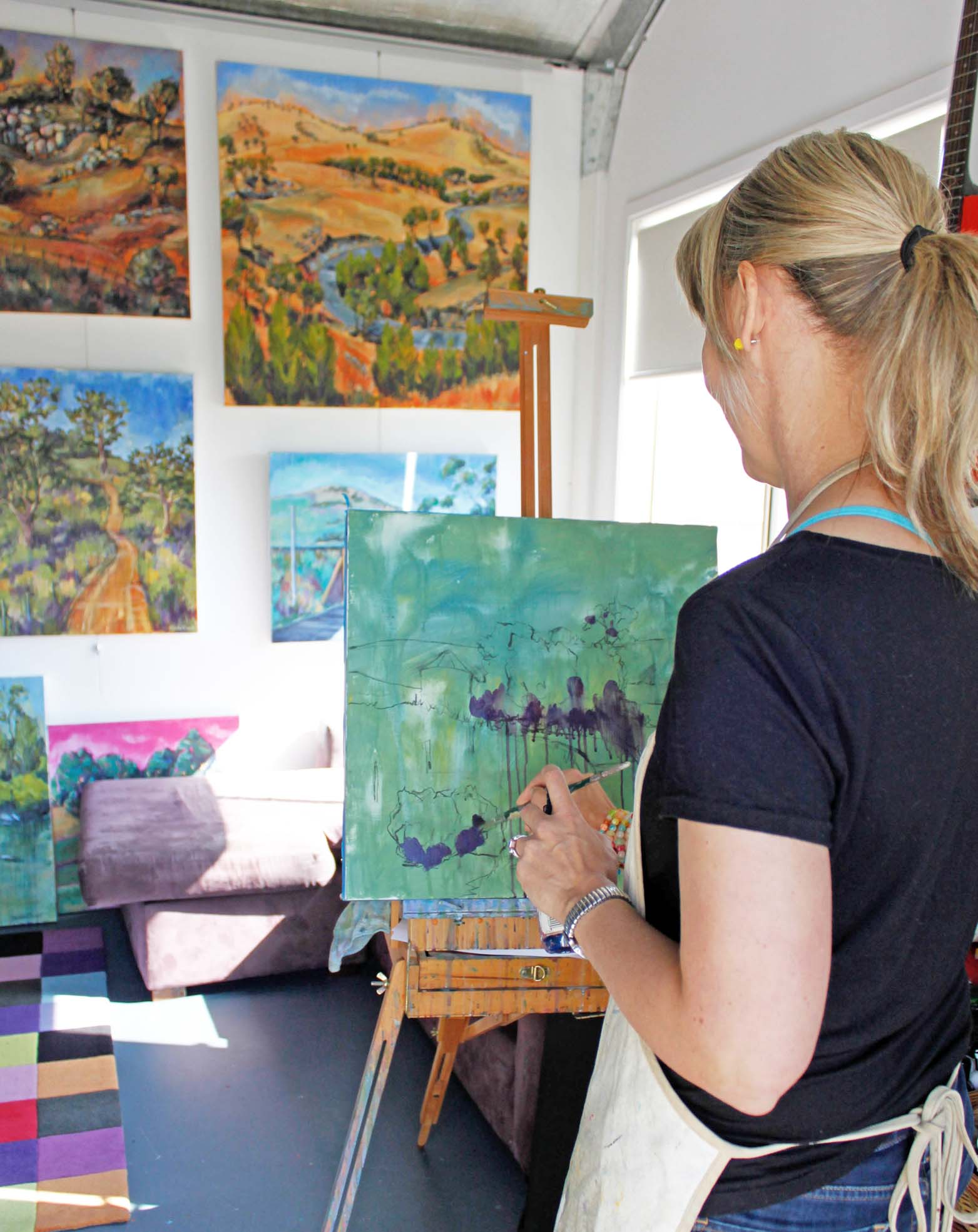 Australian artist studio visit, Nicole Foxall, The Corner Store Gallery, photograph by Madeline Young