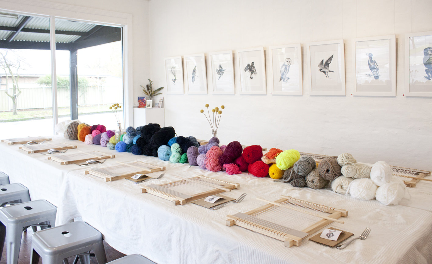 Loom Weaving Workshop - The Corner Store Gallery, Orange NSW, photograph by Madeline Young
