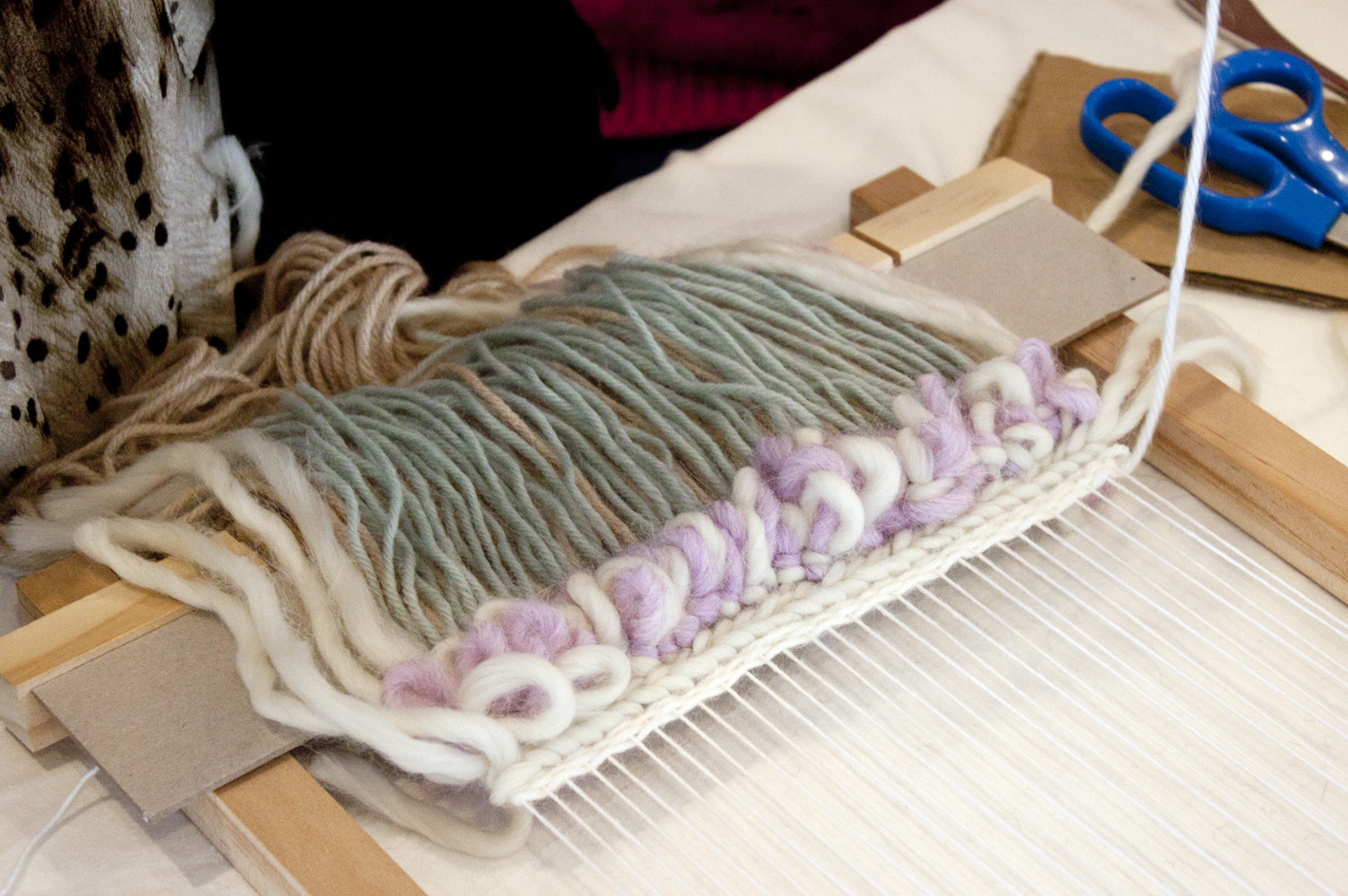 Loom Weaving Workshop - The Corner Store Gallery, photograph by Madeline Young