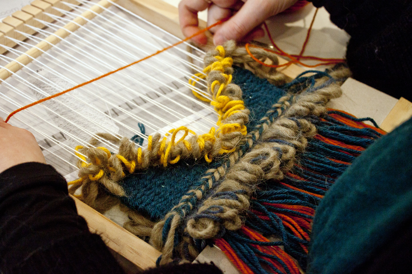 Loom Weaving Workshop - The Corner Store Gallery, Orange NSW - photograph by Madeline Young