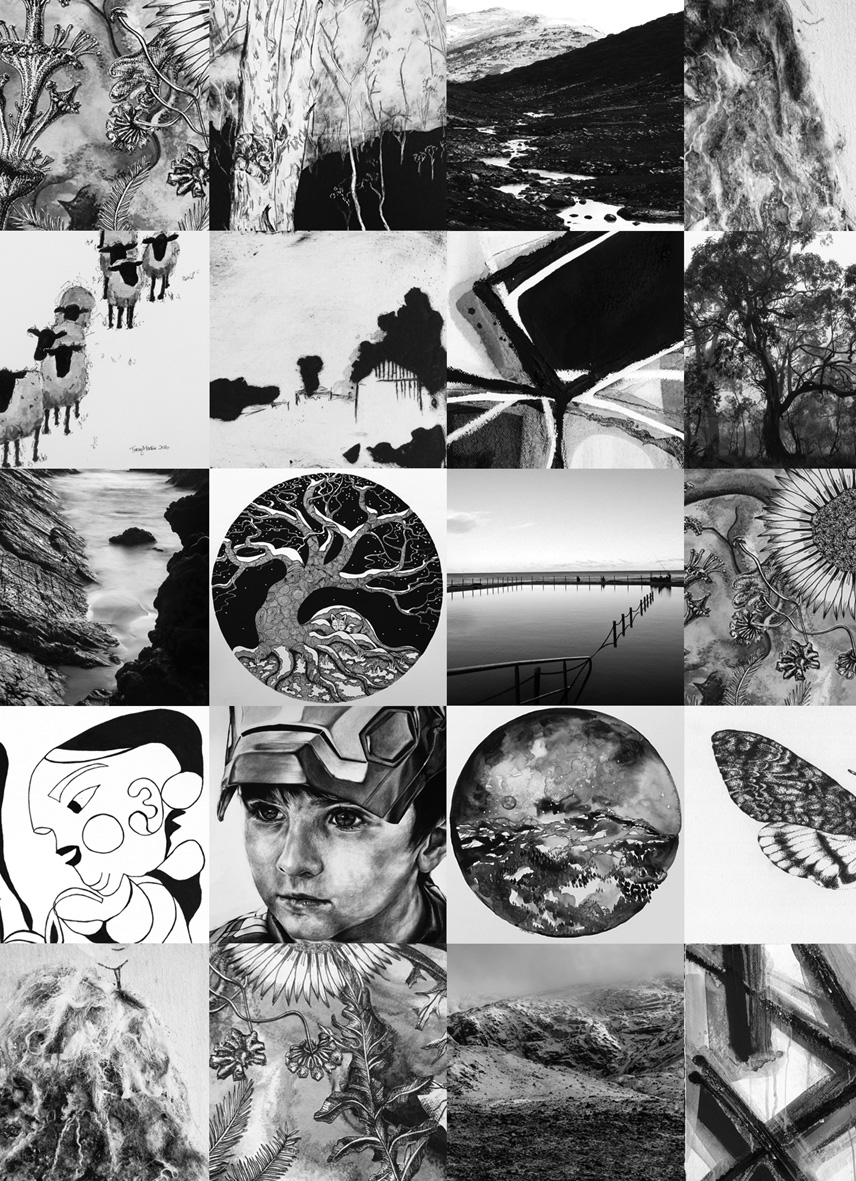 Black and White group exhibition - The Corner Store Gallery, Orange NSW