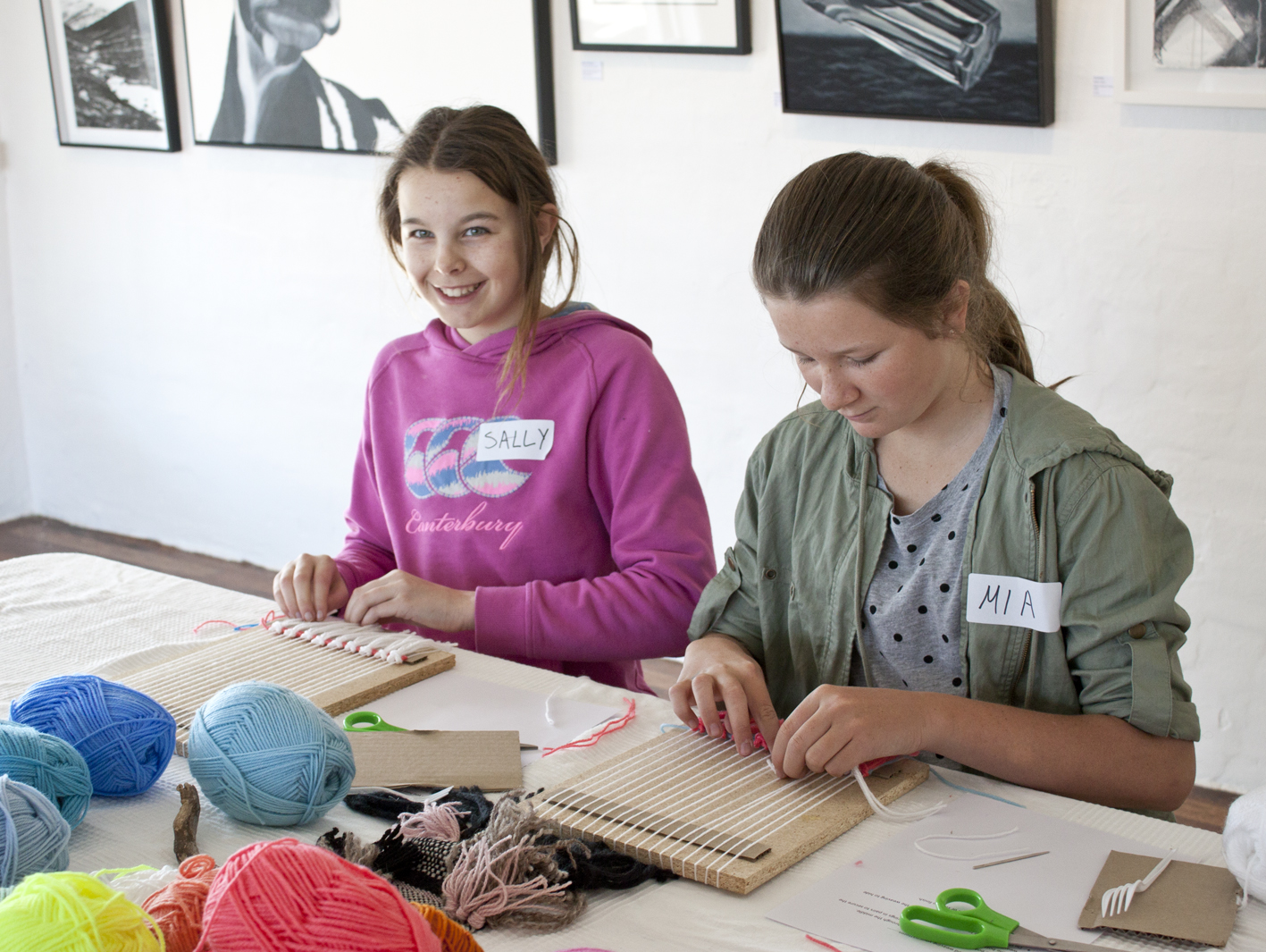 Kids Weaving Class - The Corner Store Gallery, photograph by Madeline Young