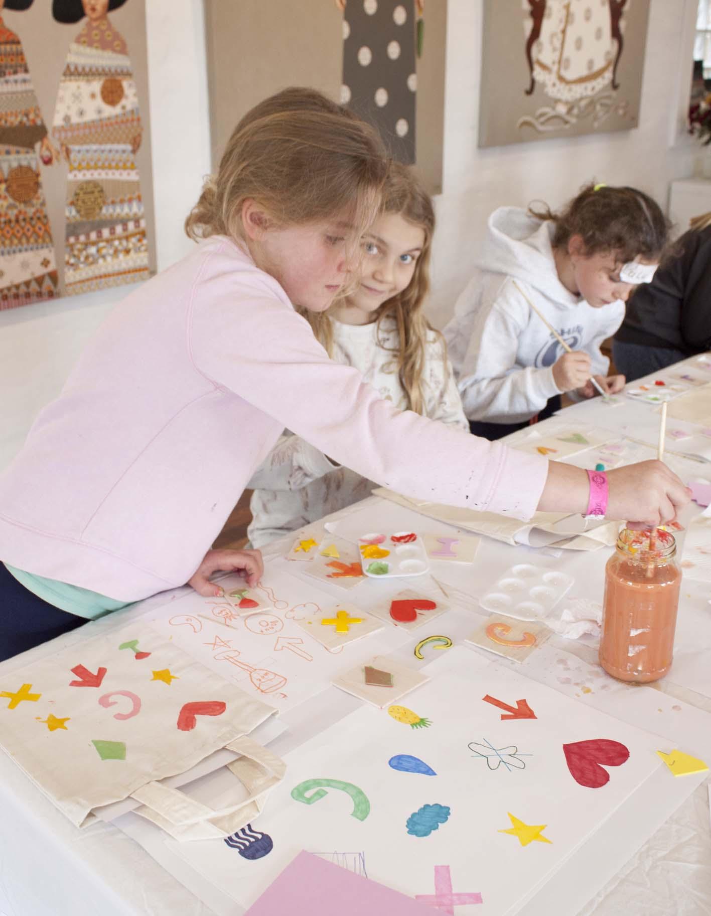 Kids Block Printing Class - The Corner Store Gallery, Orange NSW