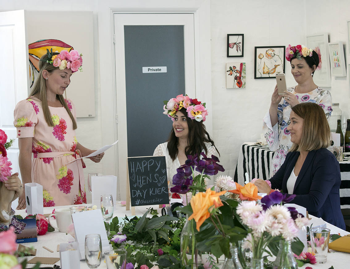 Spring Flower Crown Hens' Party - The Corner Store Gallery, Orange NSW