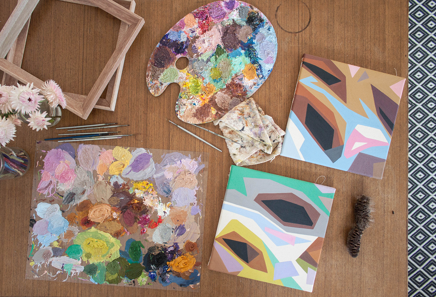 Australian artist Madeline Young studio visit - The Corner Store Gallery