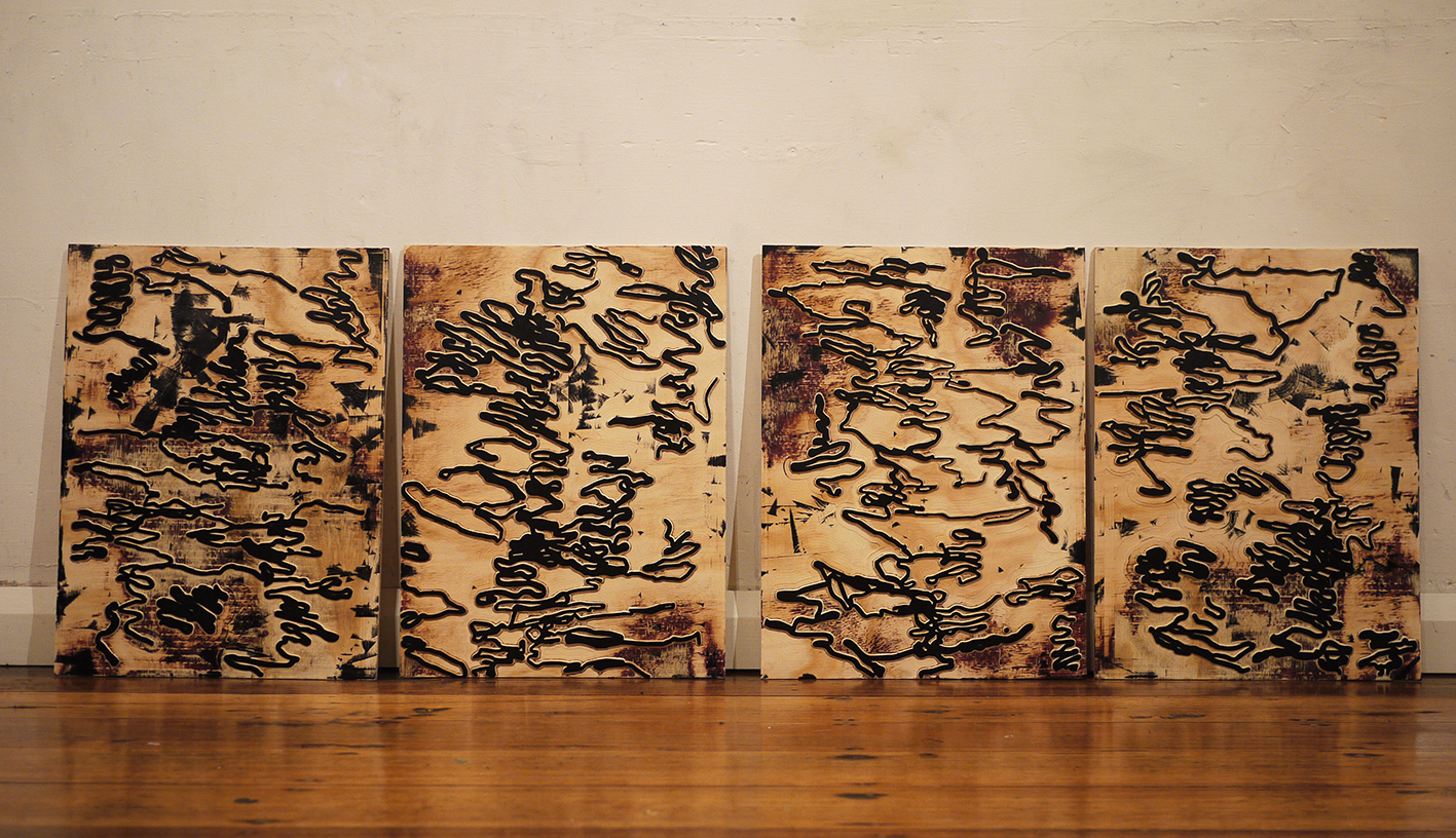 Australian artist Ben Foster studio visit - The Corner Store Gallery