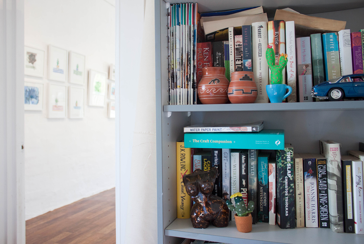 Australian artist Madeline Young studio visit and home tour - The corner Store Gallery