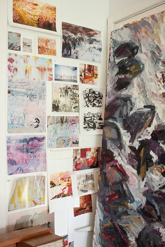 Australian artist Belinda Street, artist studio - The Corner Store Gallery