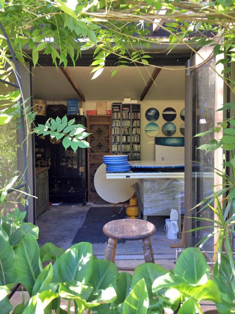 Australia artist studio visit Tricia Trinder - The Corner Store Gallery, photograph by Ingrid Bowen