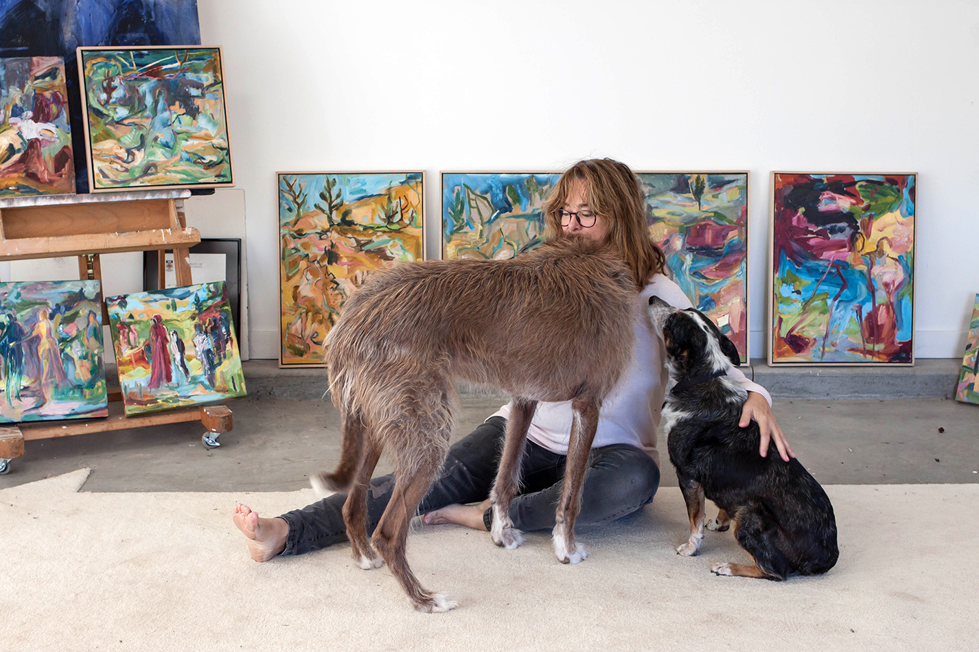 Australian artist Ruth Stone, studio visit and interview - The Corner Store Gallery, photograph by Madeline Young