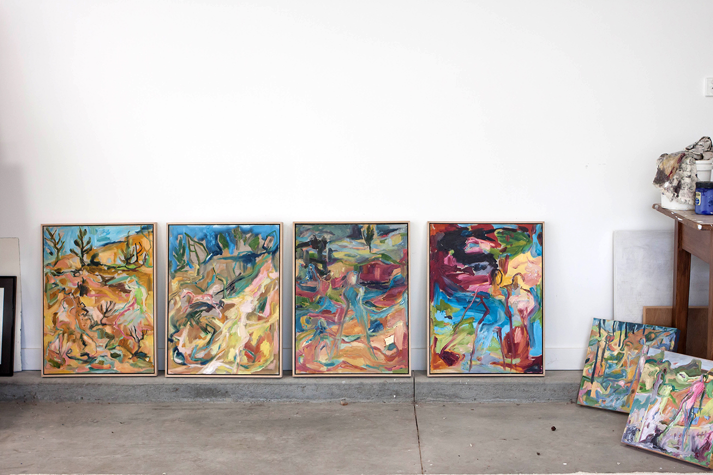 Australian artist Ruth Stone, studio visit and interview for The Corner Store Gallery, photograph by Madeline Young