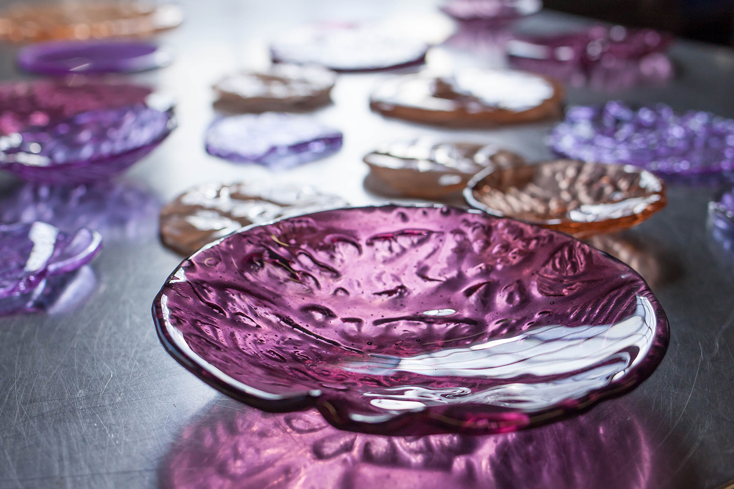 The Corner Store Gallery - studio visit and interview with glass artists Alexandra Frasersmith