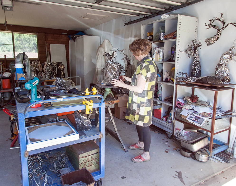 Studio visit with Australian sculptor Aileen Francis - The Corner Store Gallery