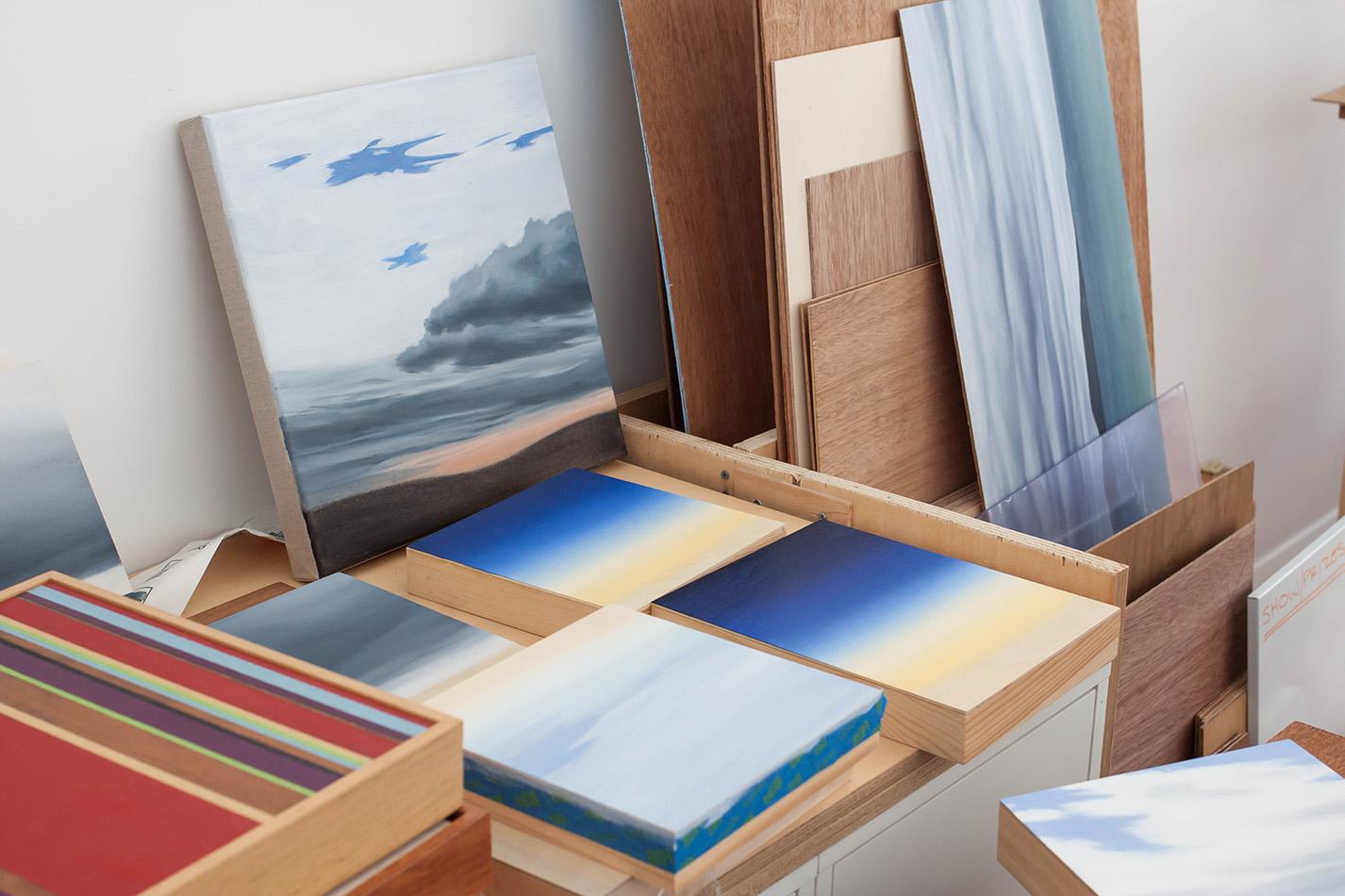 Studio visit and Interview with Australian landscape painter Fiona Barrett-Clark - The Corner Store Gallery