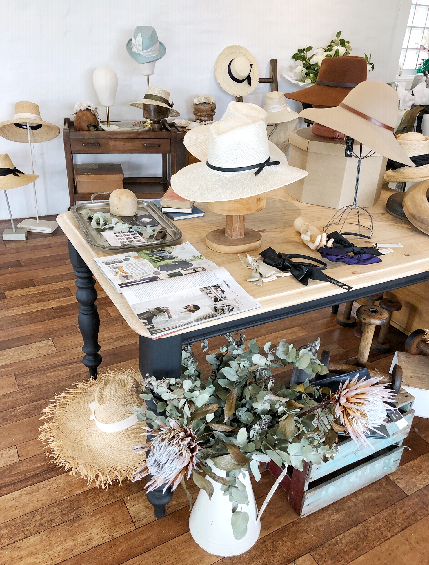 The Corner Store Gallery - Fiona Schofield Millinery Popup