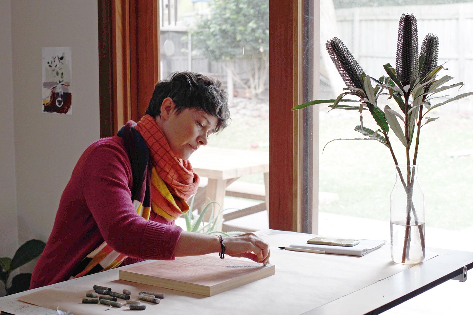 The Corner Store Gallery studio visit with Nicola Woodcock