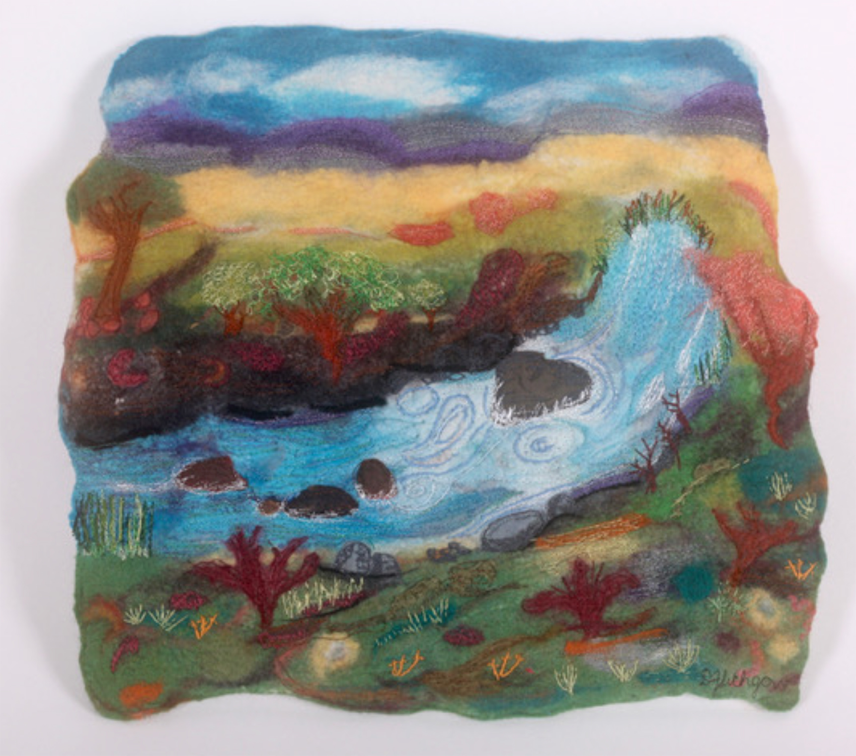 The Corner Store Gallery - 2D Felted Wall Works with Denise Lithgow