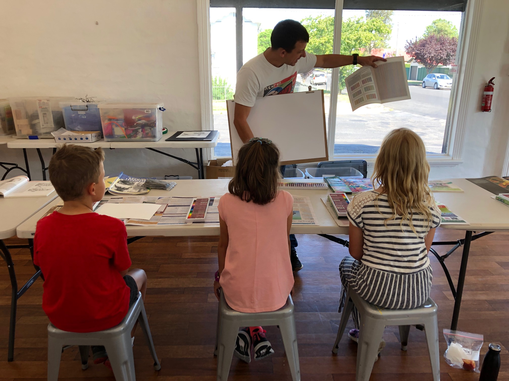 The Corner Store Gallery - Kids Drawing Class with Bill Tink