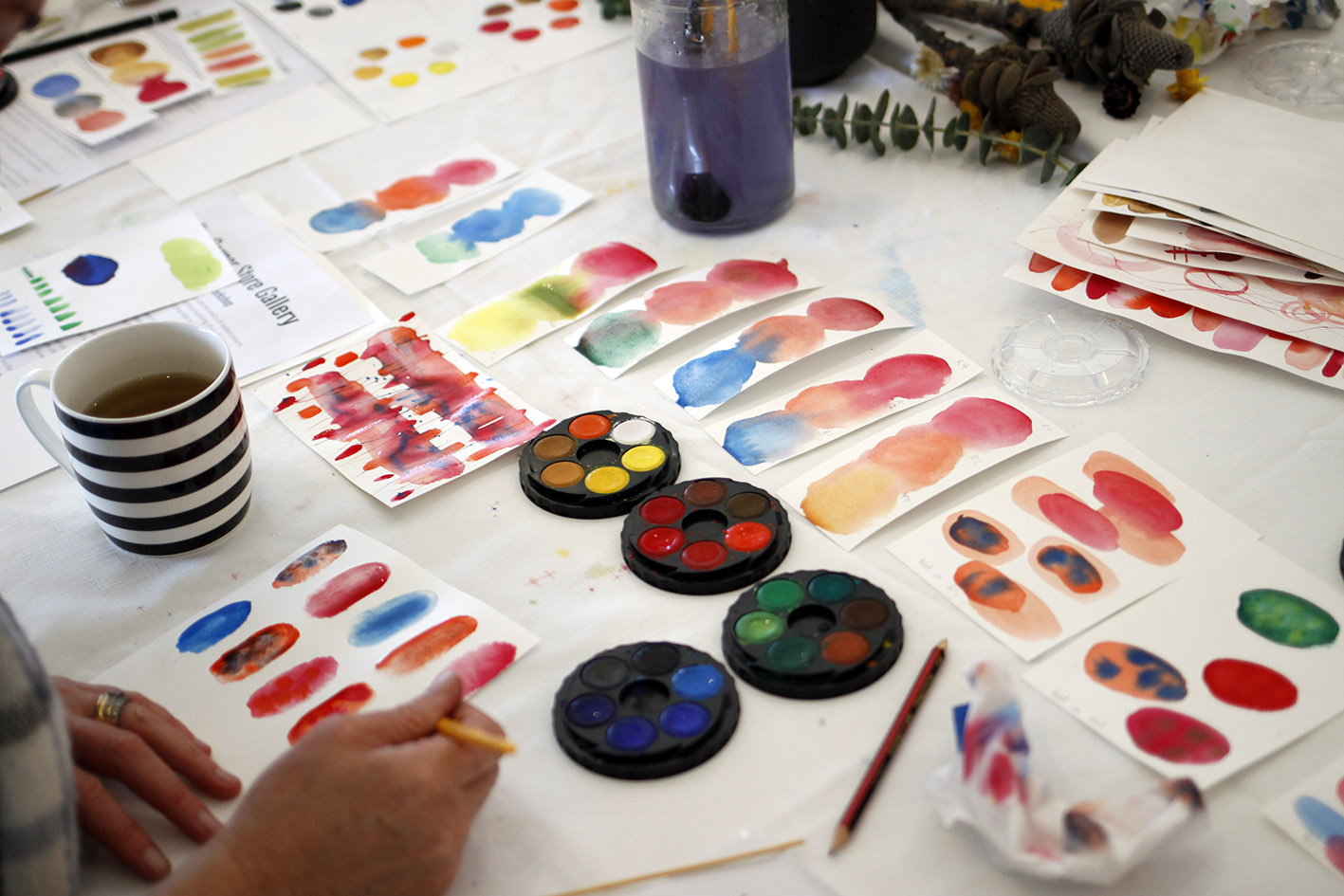The Corner Store Gallery - Abstract Watercolour Workshop