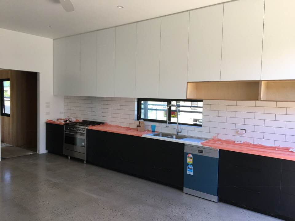 The kitchen almost complete, 2017.