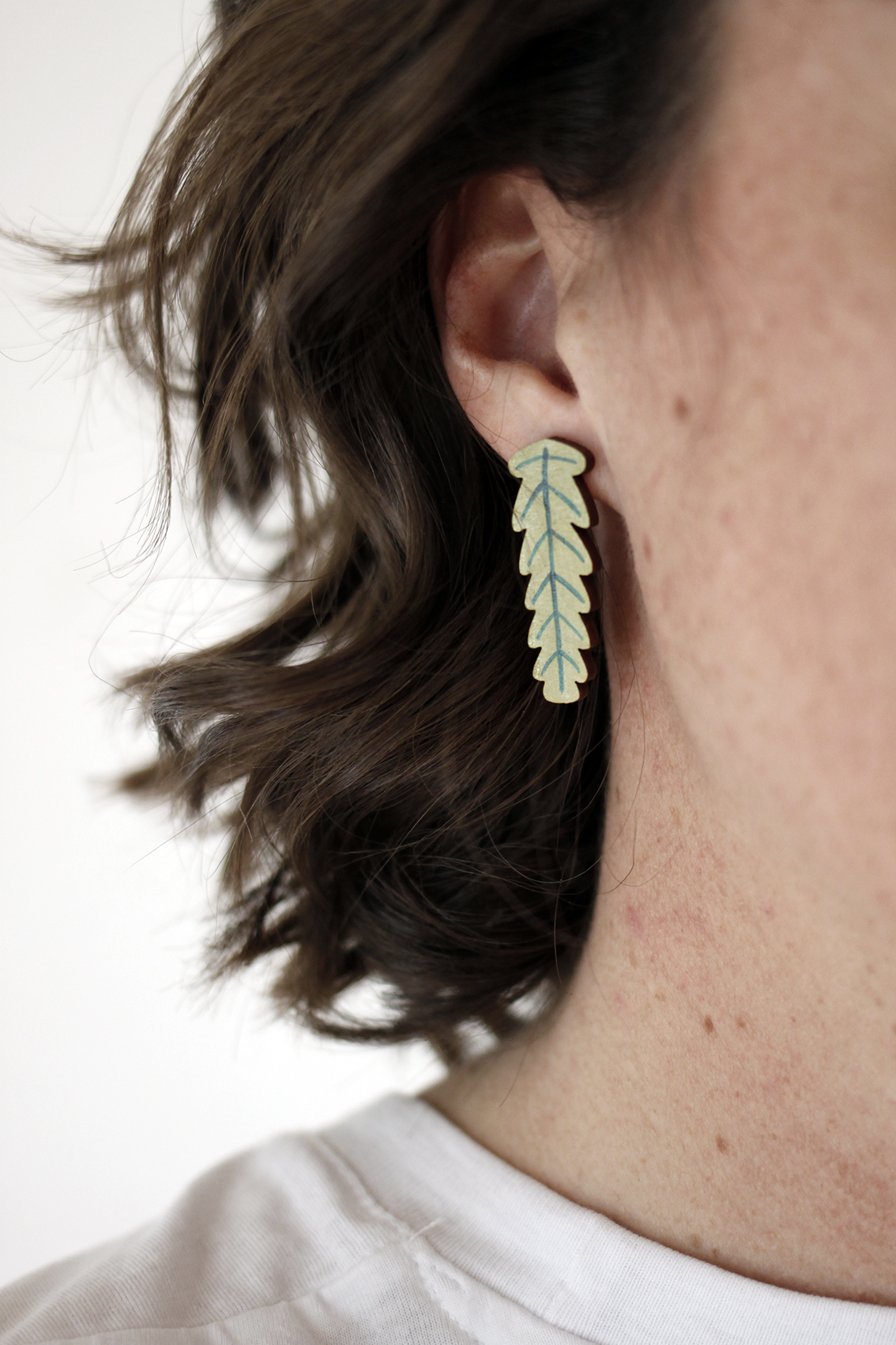 Earrings by  Whimsy Milieu.