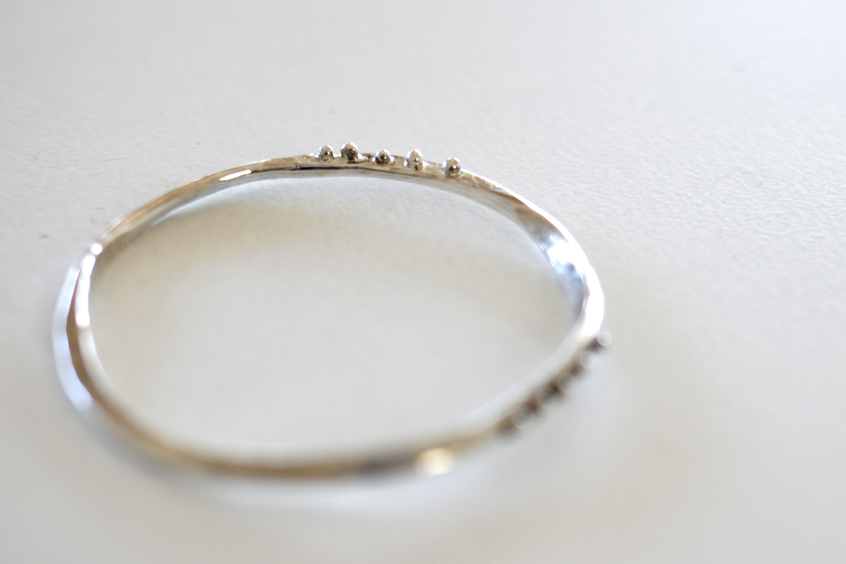 Silver Bangle by  White Rock Silver.