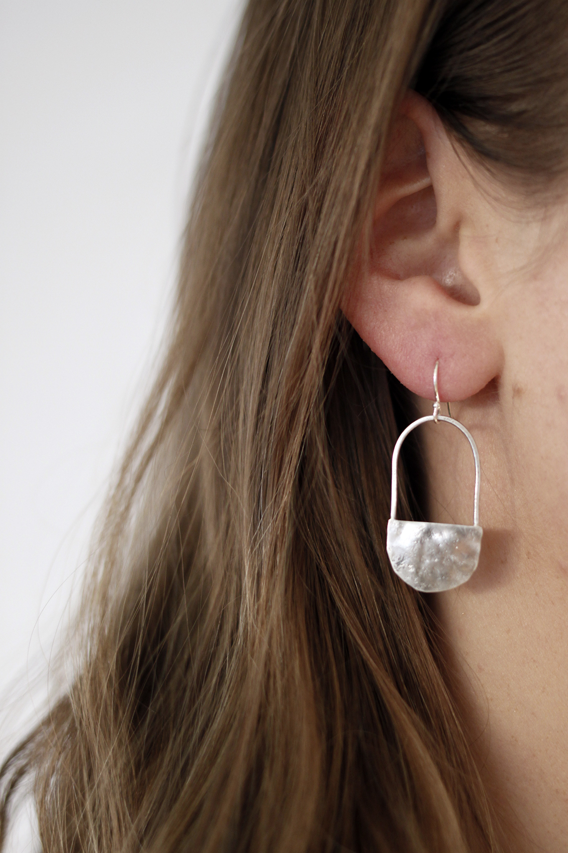 Earrings by  White Rock Silver.
