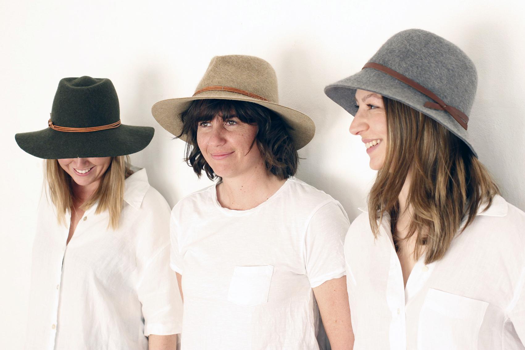 Felt Hats by  Fiona Schofield Millinery.