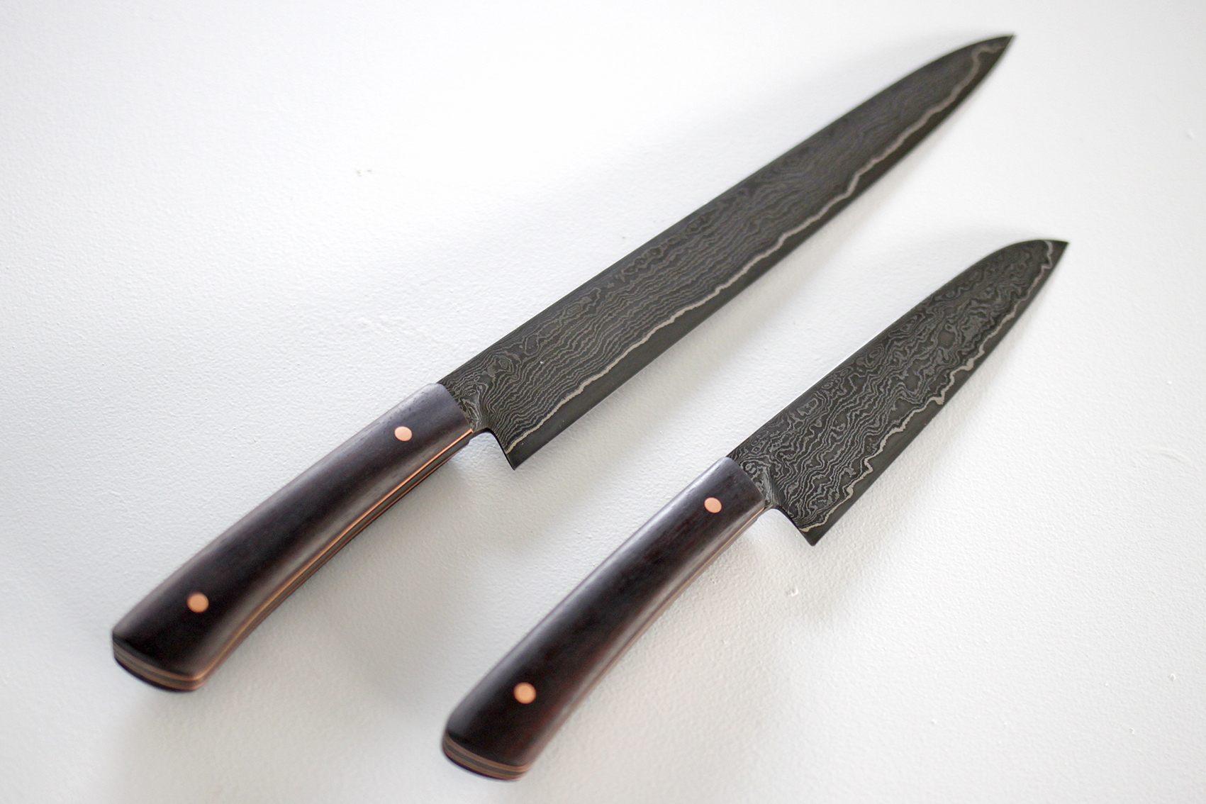 Hand Forged Steel Knives by  Tim Moore.
