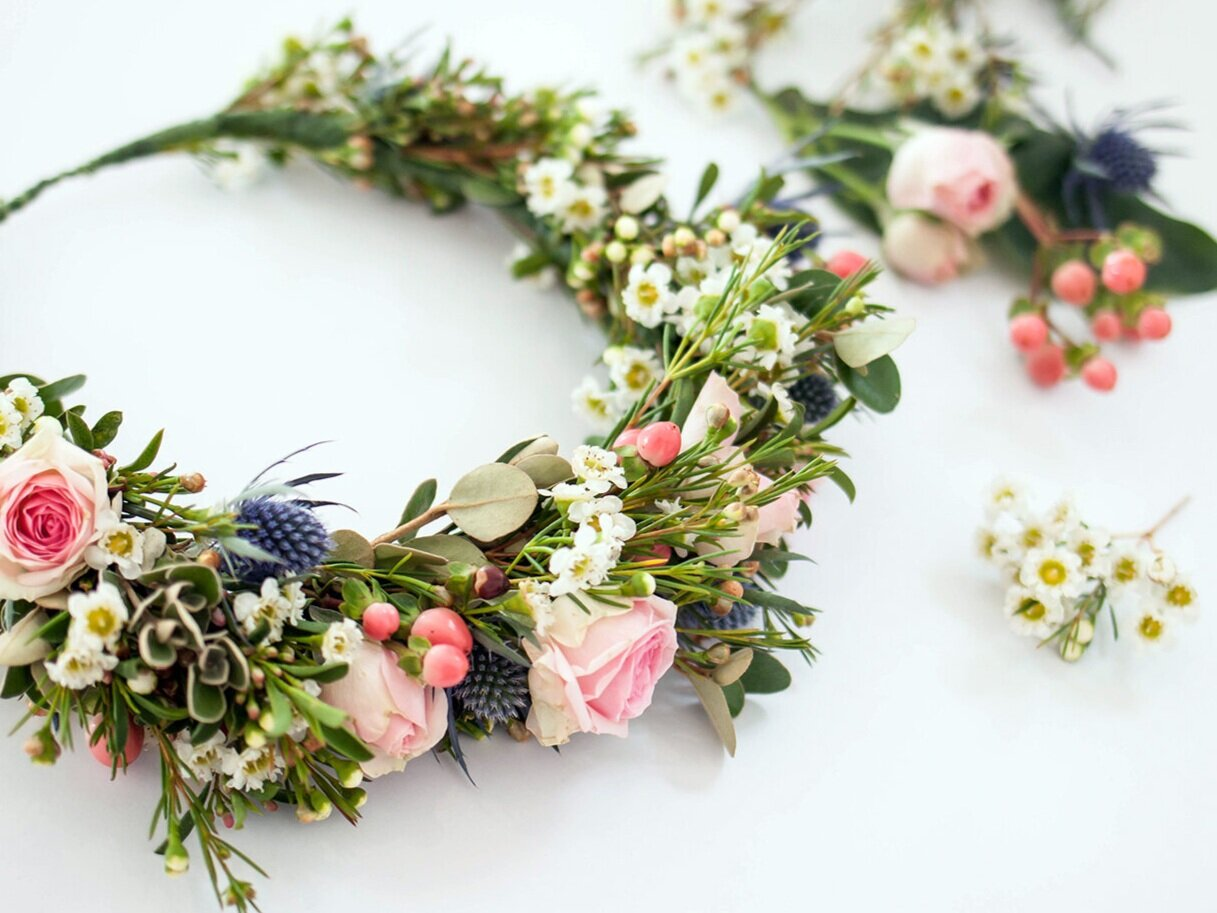 DIY Fresh FlowerCrowns - $70 per person, 6-20 people, 2 hours