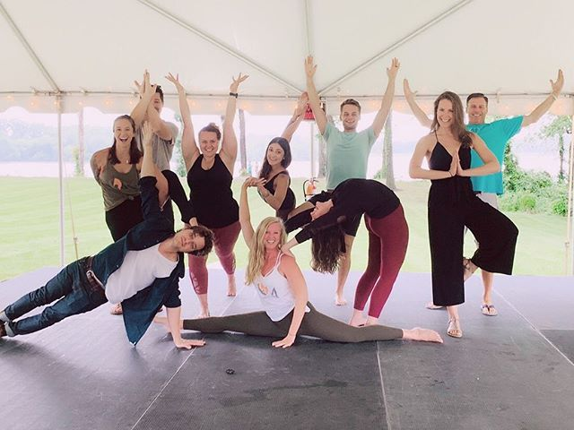 Yesterday was fun... 🙏🏻🍷🎶 #namaste #endalz @thehotyogabarre @uppershirley @alzassociation